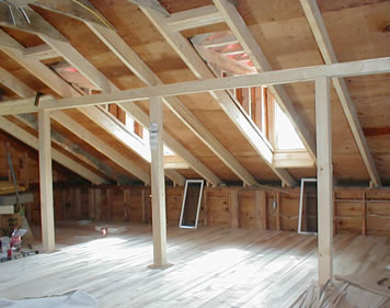 Rafters to flooring