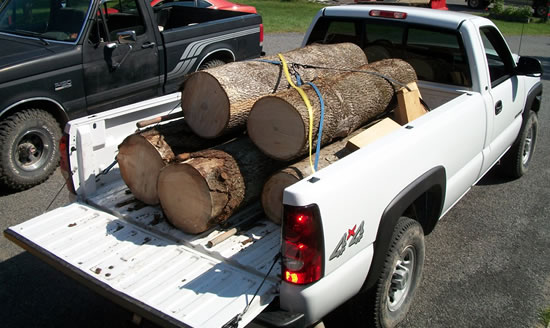 Logs for delivery to Manhattan
