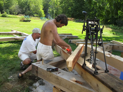 Timber framing project